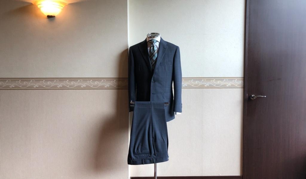 スーツ<LASSIERE MILLS(ラッシャーミルズ)>