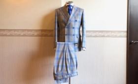 ダブルブレストスーツ<DARROW DALE(ダロウデイル)>