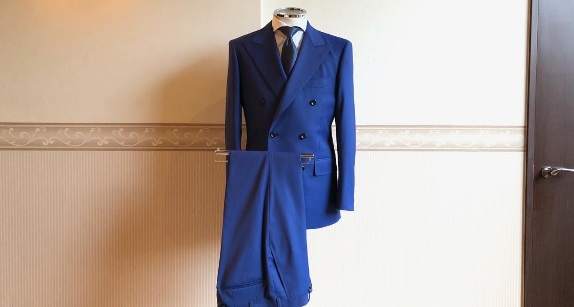 ダブルブレストスーツ<DORMEUIL(ドーメル)>